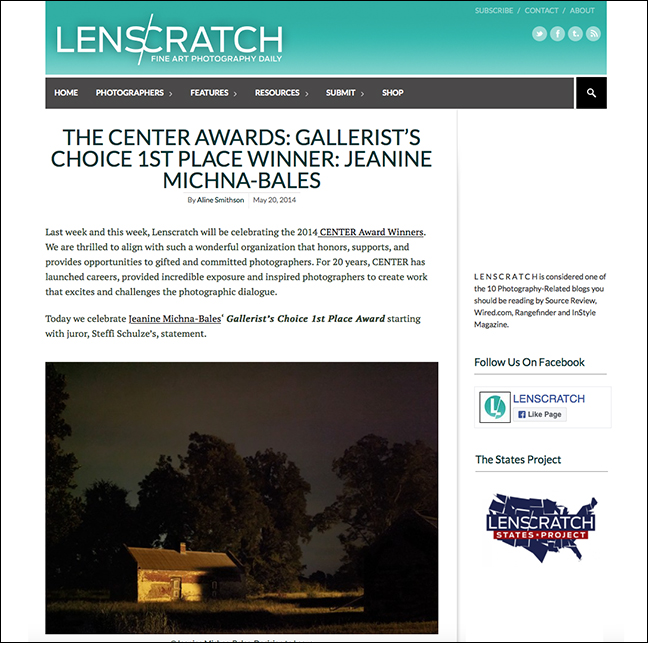 LENSCRATCH | CENTER   by Aline Smithson May 20, 2014