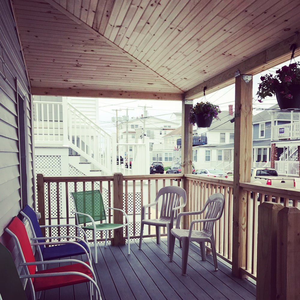 Your home sweet home for the summer = the newly renovated beach house just steps from the beach!