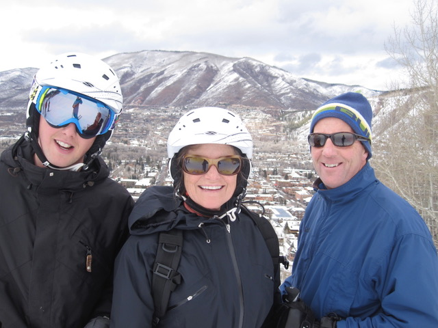 Hank, Kate and Ted ~ Aspen 2010
