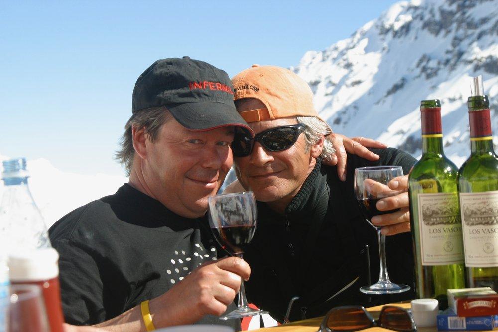 Tio Bob's in Portillo, Chile where après ski starts at noon for some.