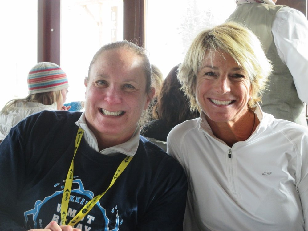 Ten years of skiing together, Jennifer and Kim have become great friends