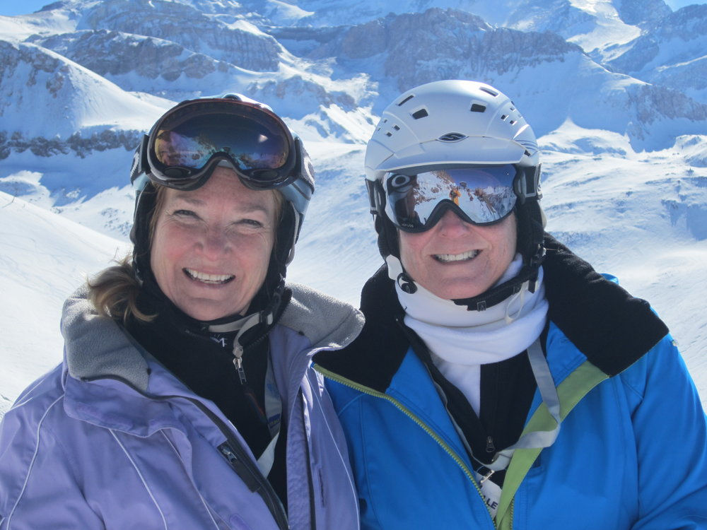 Jennifer and Janet Love in Valle Nevado Chile