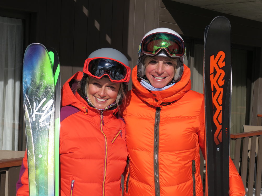 K2 Ski Alliance athletes and friends, Heather Paul and Kim.