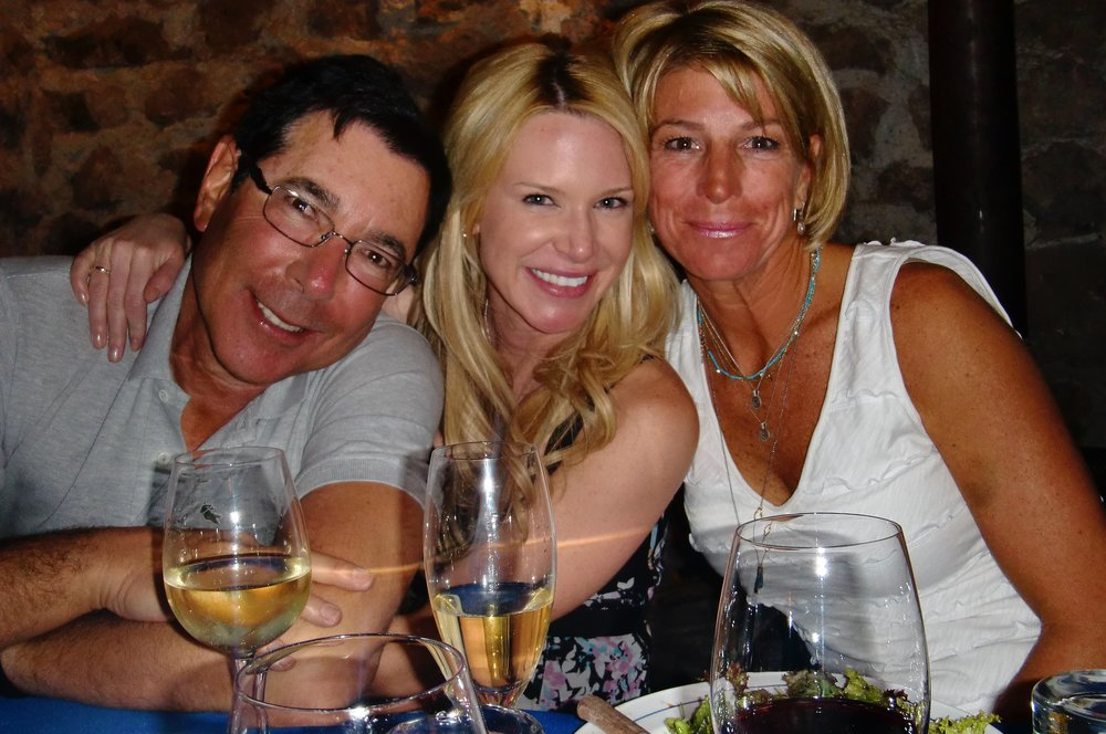 Kim and amigos enjoying an evening in Portillo