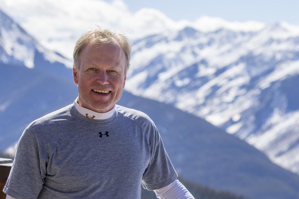 Scott enjoying a bluebird Colorado day in Aspen.
