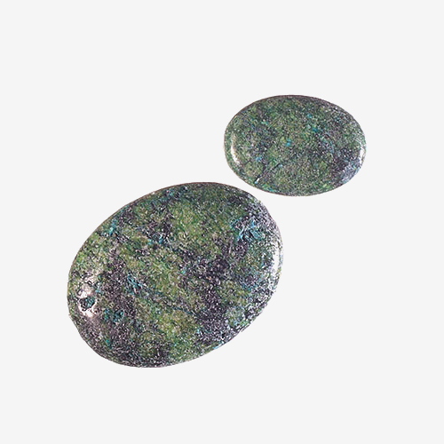 Malachite Turquoise Chrysoscolla in Matrix   Material: Natural Stone   These stones consist of malachite, turquoise and chrysocolla minerals combined.