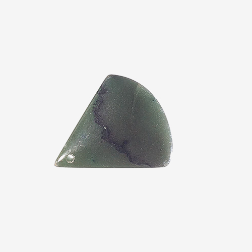 Nephrite Jade   Material: Natural Stone   One of the two stones considered to be true jade.  Canada is the principal source of nephrite jade but it is also found in several countries, including China and New Zealand.