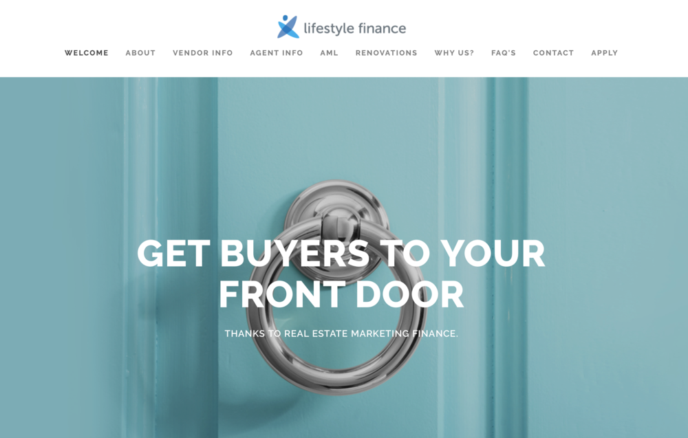 Lifestyle Finance - Real Estate Marketing Finance Website Home Page.png