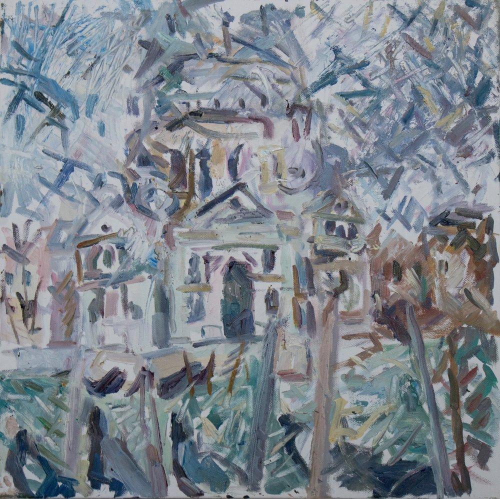 "Salute I , oil on canvas, 20"" x 20"", 2018"