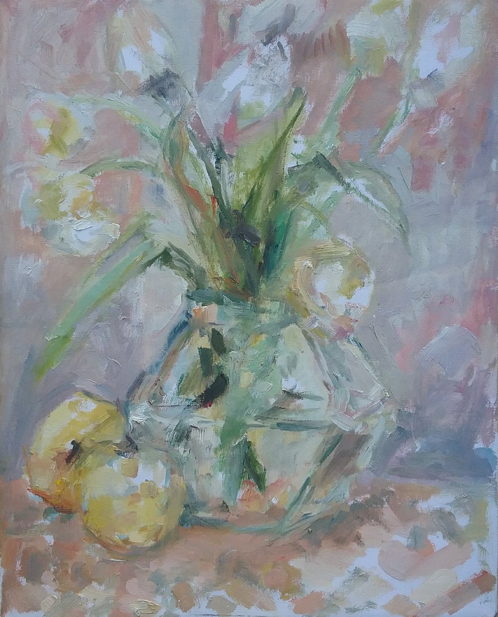 "Tulips , oil on canvas, 20"" x 16"", 2016"