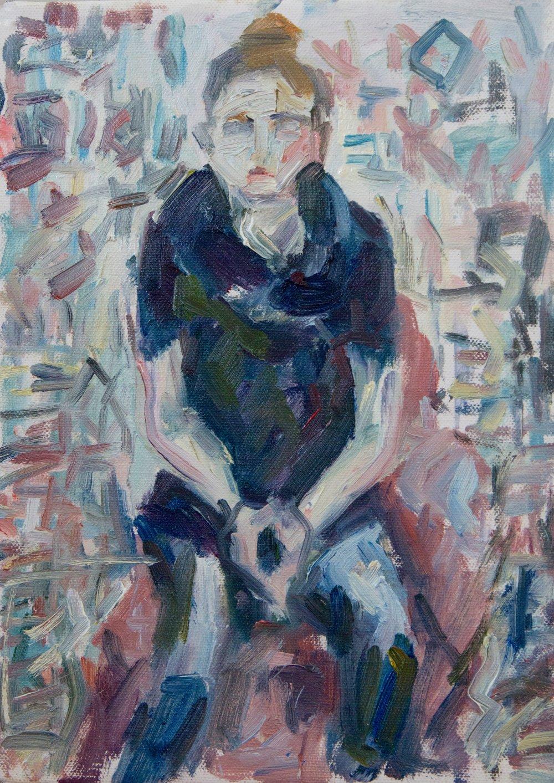 "Zoi , oil on canvas, 12.5"" x 9"", 2018"