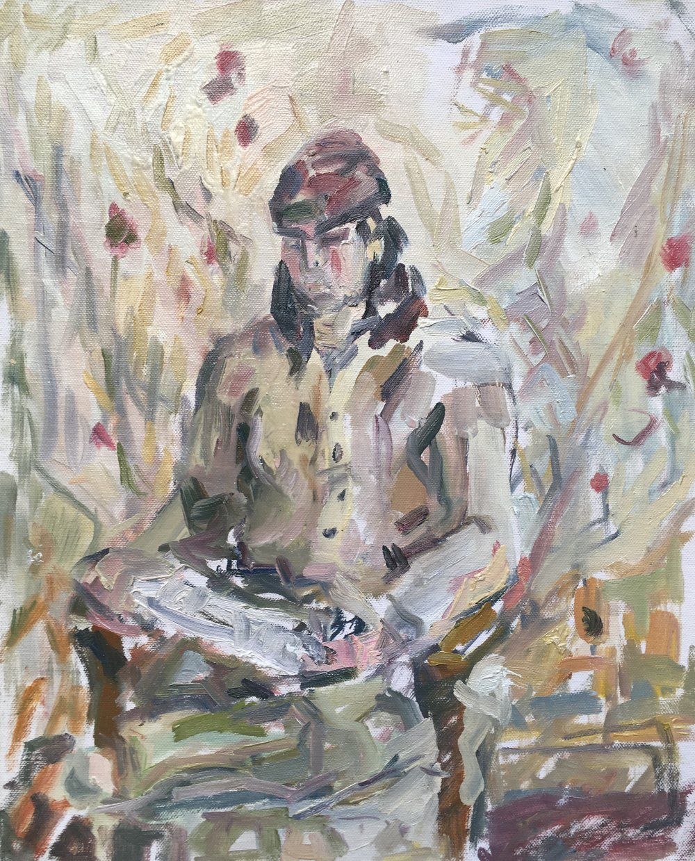 "Jedidiah Reading , oil on canvas, 20"" x 16"", 2018"