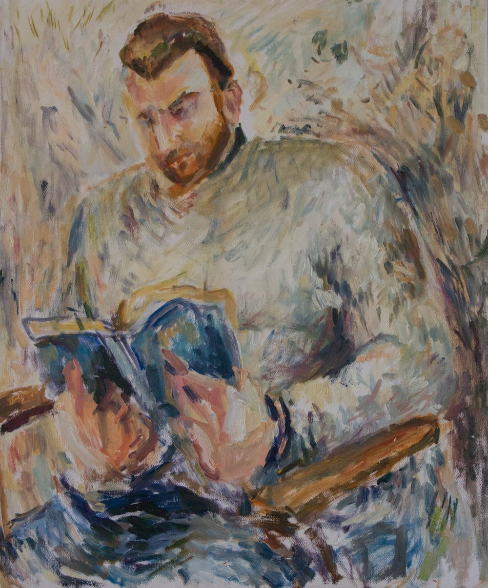"Ben Reading , oil on canvas, 25.5"" x 21"", 2018"