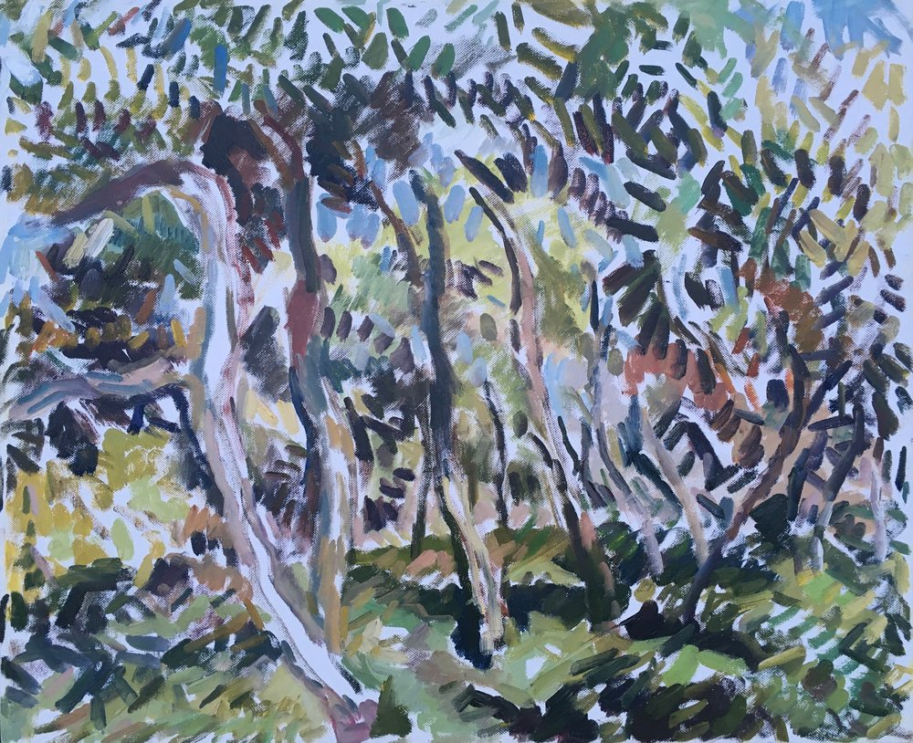 "Giardini II , oil on canvas, 19.5 "" x 24"", 2018"