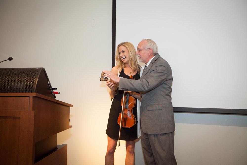 2015 President's Alumni Award recipient, Maggie Gould, with former SCGSAH Presient, Dr. Halverson.