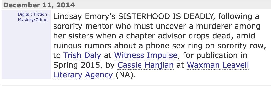sisterhood PM Cassie