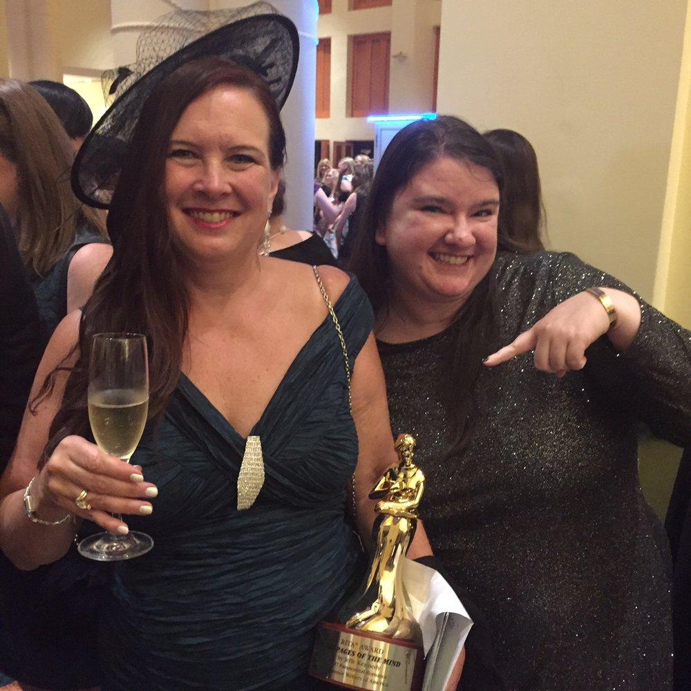 So fun to celebrate Jeffe Kennedy's RITA win on the dancefloor!
