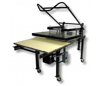 GeoKnight Maxi-Press: $8,000 - A heat press works in tandem with the dye sublimation printer to press the image onto metal, wood, fabric and more. You can also use the heat press to flatten print images that are curled, which makes them easier to frame and sale in packaging.