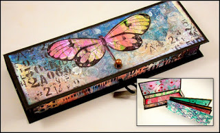 Gelli Print Box with Accordion Book - THURSDAY, JUNE 28 •10:30AM OR 6:00PM • $25Even if you didn't take the Gelli Print Playtime class, you can still take this class.You can bring any papers you lik - even copies of your Master Page Create if you have taken that class.You'll decorate the box using your prints and then create an accordion book that can hold quotes or