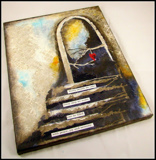 Pathways Canvas - thursDAY, july 19 • 10:30 AM OR 6:00 PM • $35Create this stunning canvas using a stencil from Stencil Girl.This canvas is covered with texture, tissues, paints and more.Frame this piece and you will have all your friends asking who the artist is!