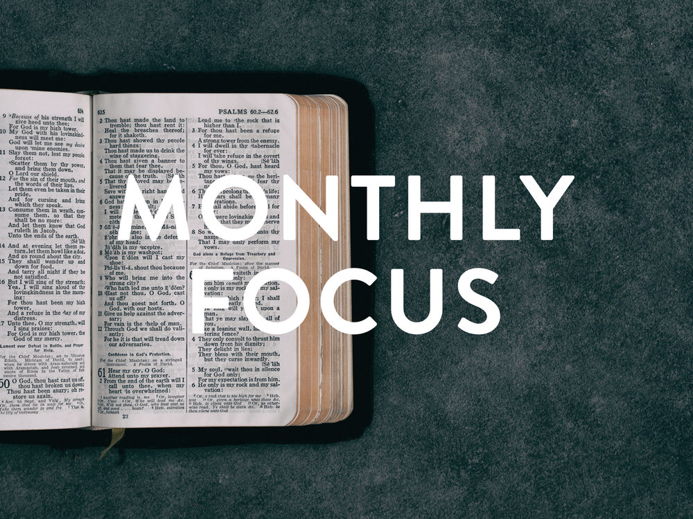 Monthly Spiritual Focus - Each month we focus on a different Scripture...it's just a part of what we do, it's part of the YC DNA.This month our spiritual focus are Hebrews 12:1 and Mark 8:34-35.Click the icon to start your monthly memorization