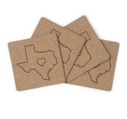 Recycled Leather Coasters Louisiana Redoux Home Market