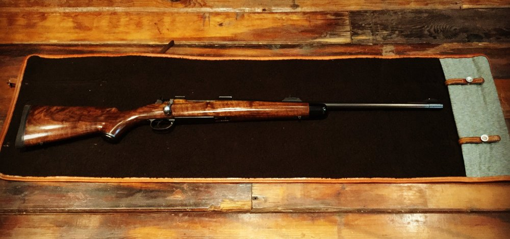 Custom 9.3x62 Mauser action bolt rifle for a client on safari