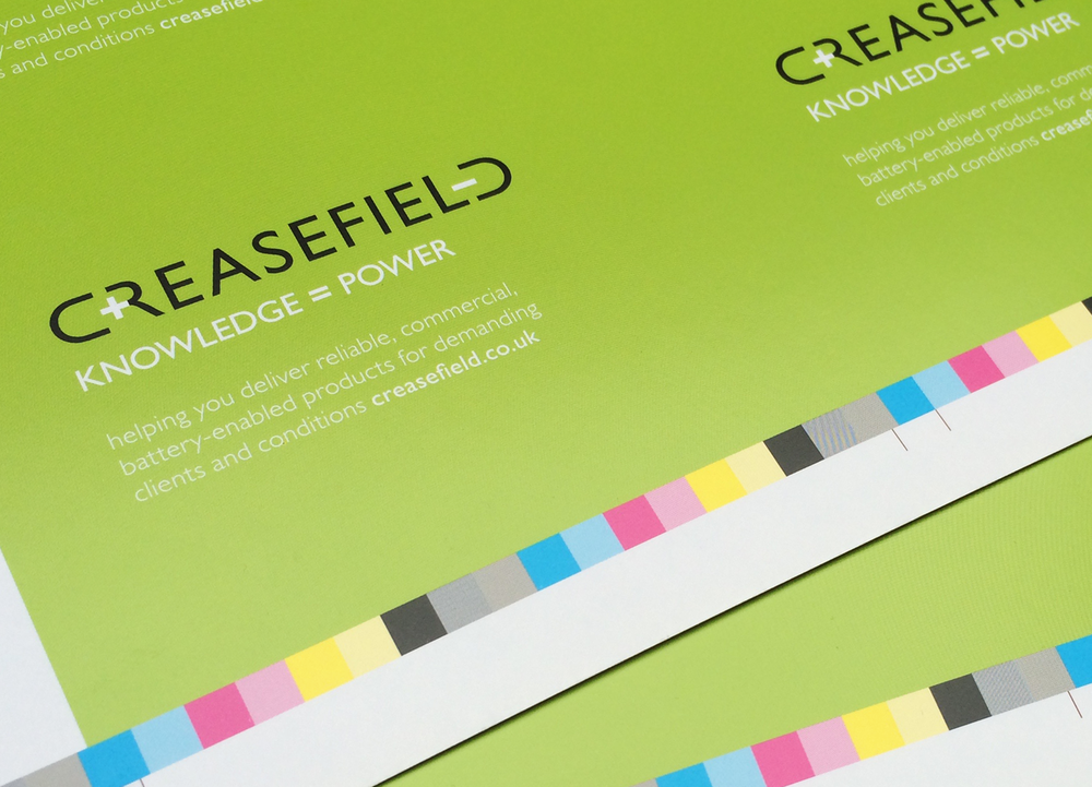 Occasionally a proposition is communicated externally, we applied it to Creasefield's stationery, both as a talking point and a reminder that they mean business. The proposition was tweaked slightly to make it more appealing to potential clients.