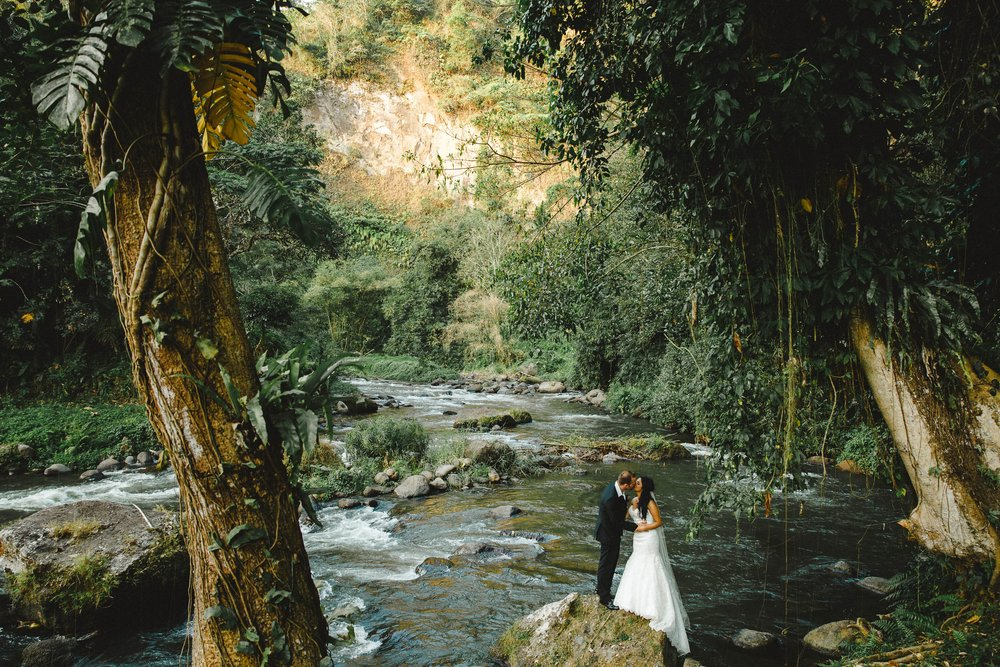 - Then there are wedding spots where you can wander down quaint jungle paths to an ancient river bed.