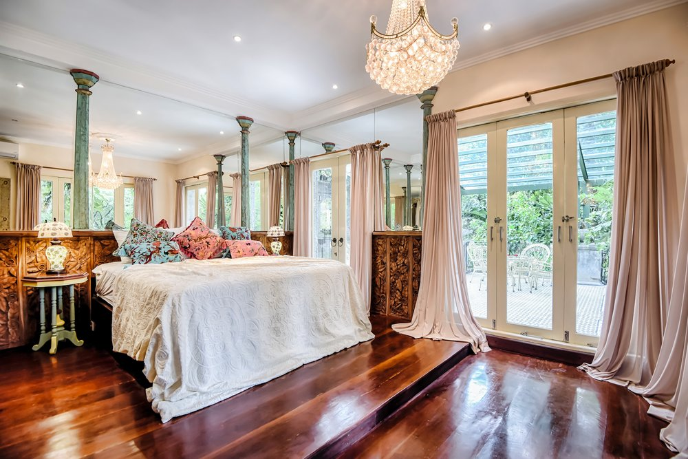 Accommodation - The luxurious Bridal Suite features a king size bed, jungle views, massage room and Victorian bathtub for a romantic wedding night soak.