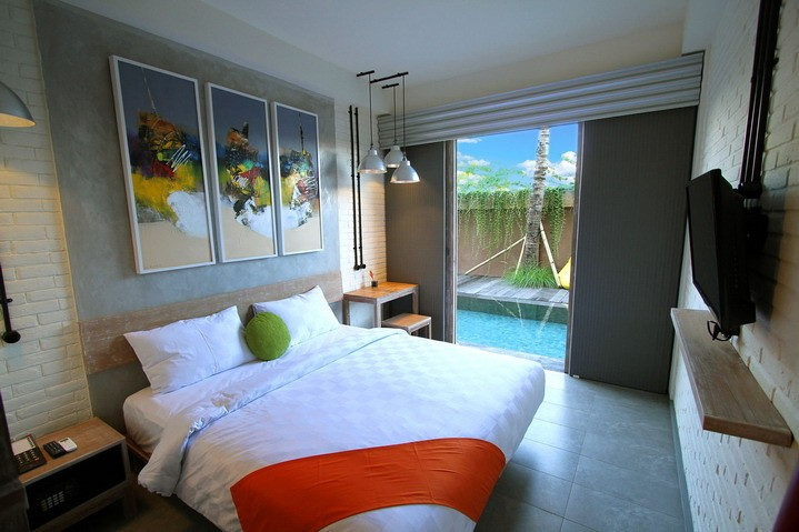 """Frii Bali - 3 stars, Echo beach - This hotel is fantastic value for money and is situated right in the middle of Canggu and Echo beach. It is walking distance to all the cafes and bars in the region and is opposite one of the popular in bars """"Munggo's""""."""