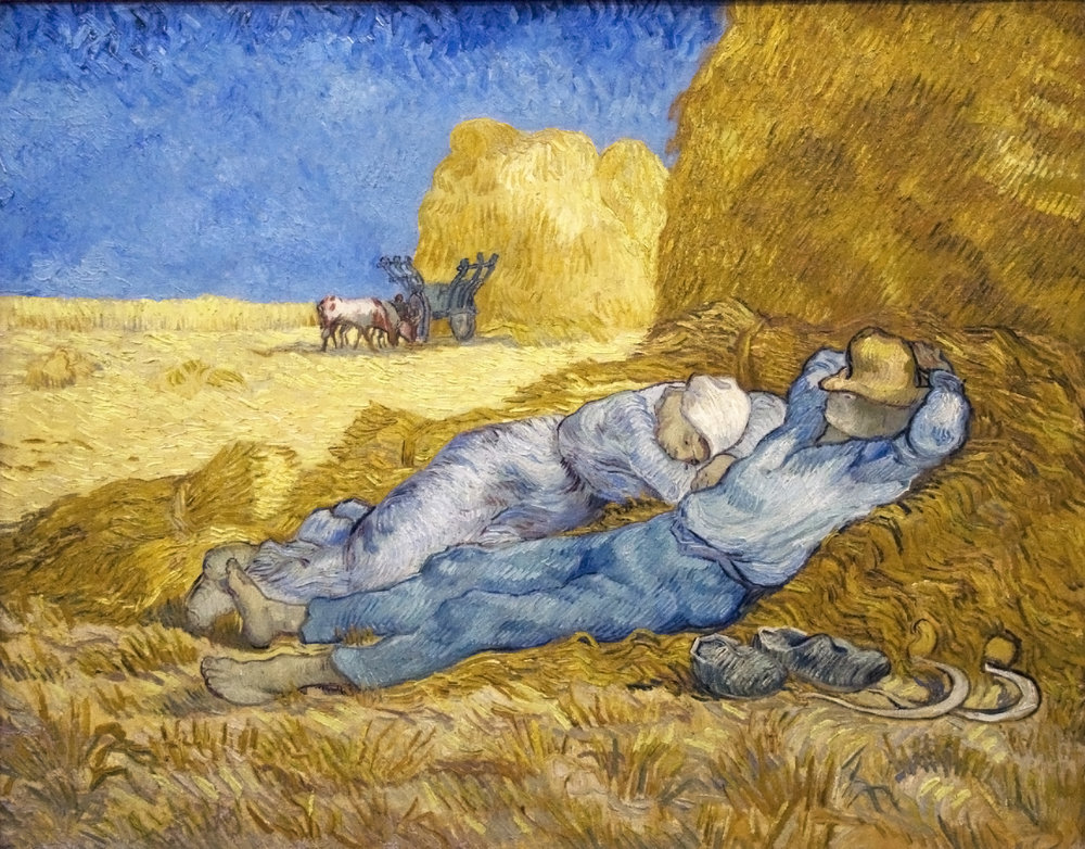Noon: Rest from Work by  Vincent Van Gogh