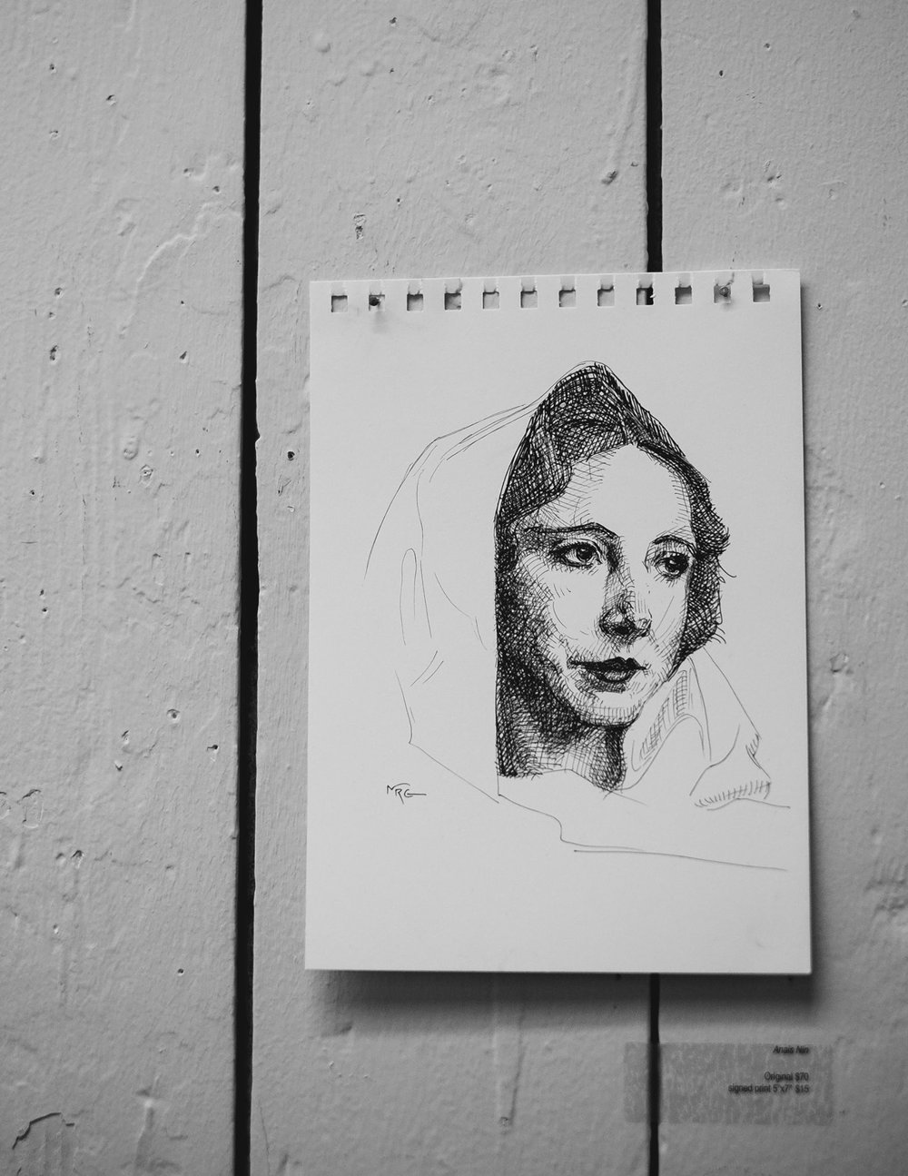 Image of Anais Nin a French Cuban poet, taken at Stumptown Roaster in Portland Oregon,  December 2014
