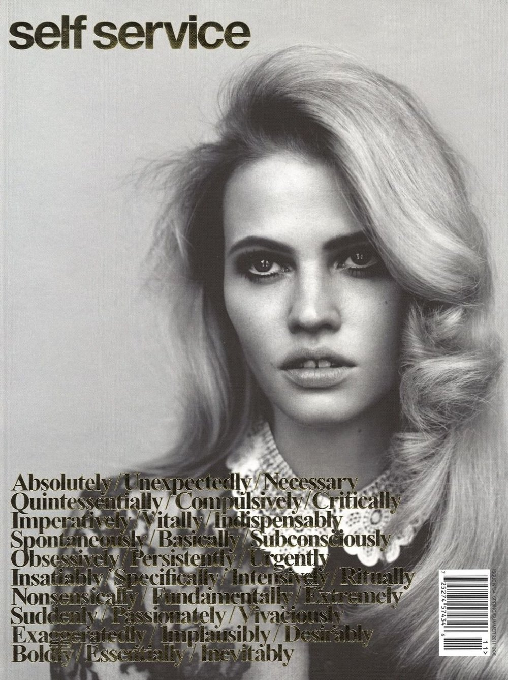 Lara Stone for Self Service Issue 34 Spring Summer 2011