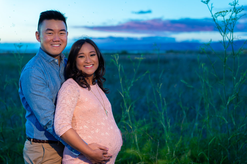 Evening Sunset Maternity Photo Shoot-15.jpg
