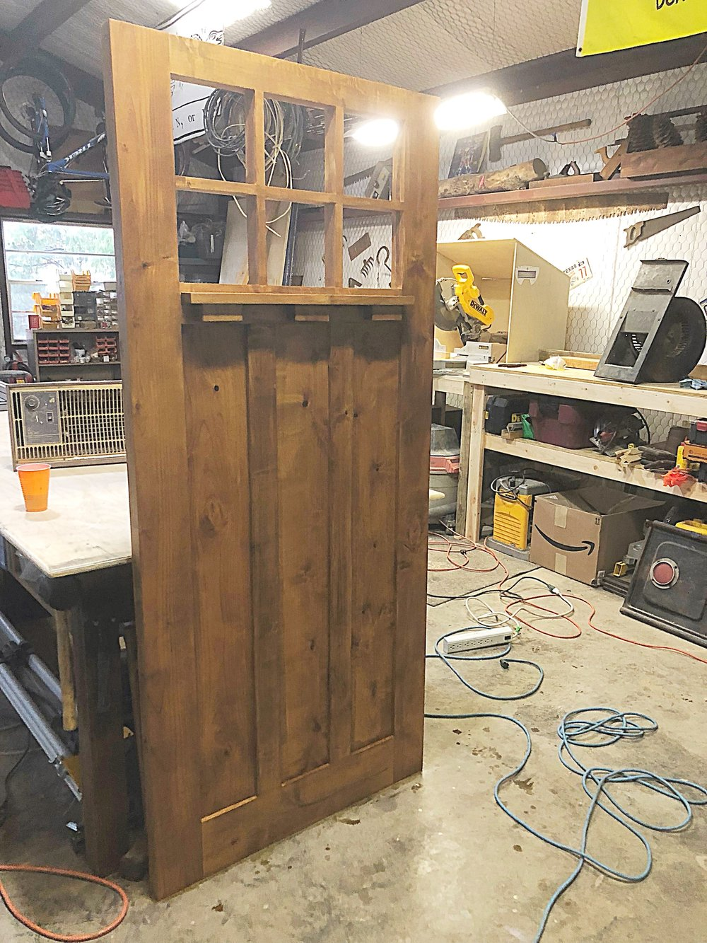 Custom front door - made from nutty alder
