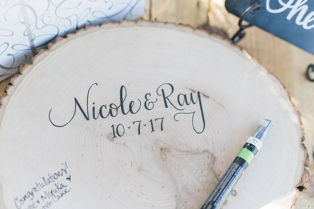 Ray and Nicole made sure, their day was about them, their kids and their loved ones