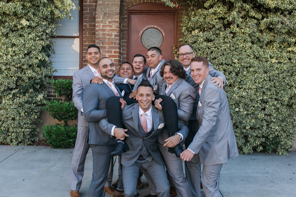Fun with groomsmen .....