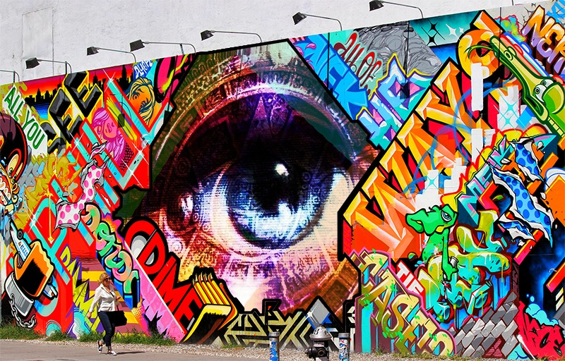 Eye, colors, love and light