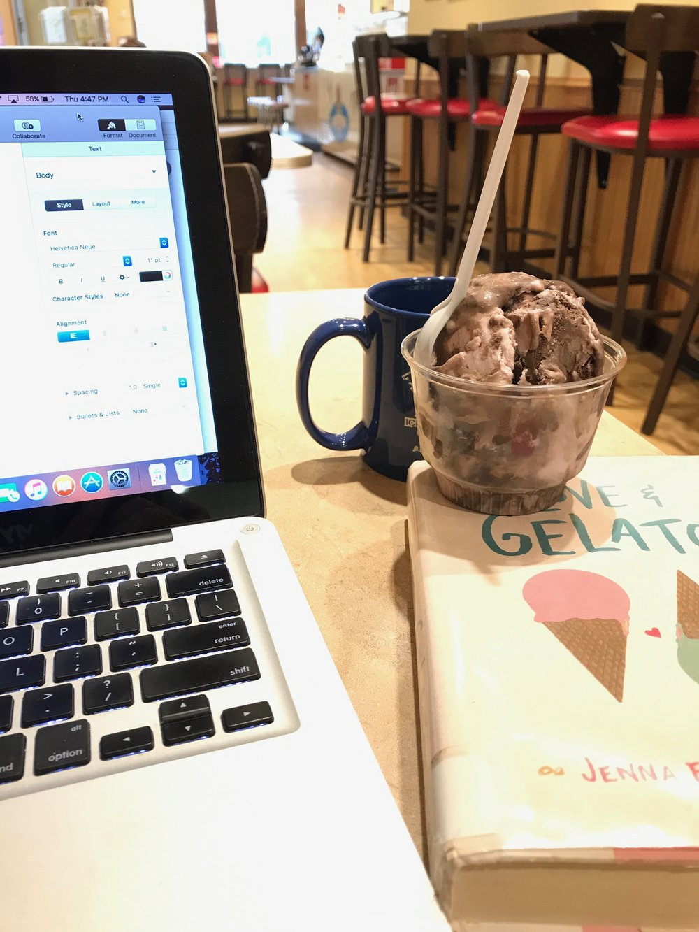 I just had to have a scoop of Razzmatazz while writing this review. Thanks,  Ellie's!