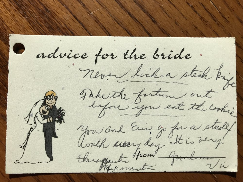 Advice for the bride 2