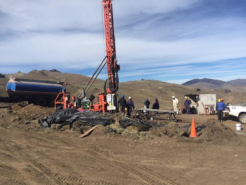 The Conosur Rig Drilling at Pico Quemado