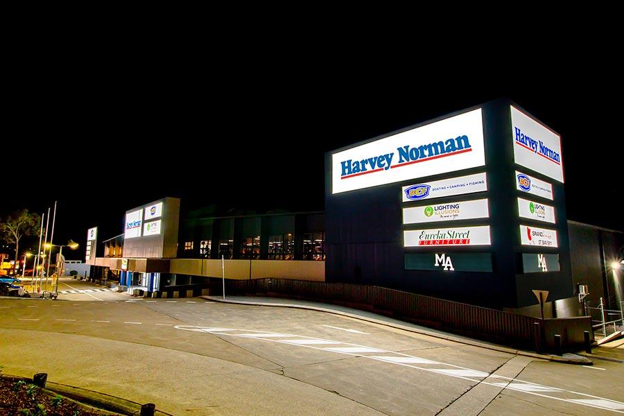 MacGregor Mega Centre at night