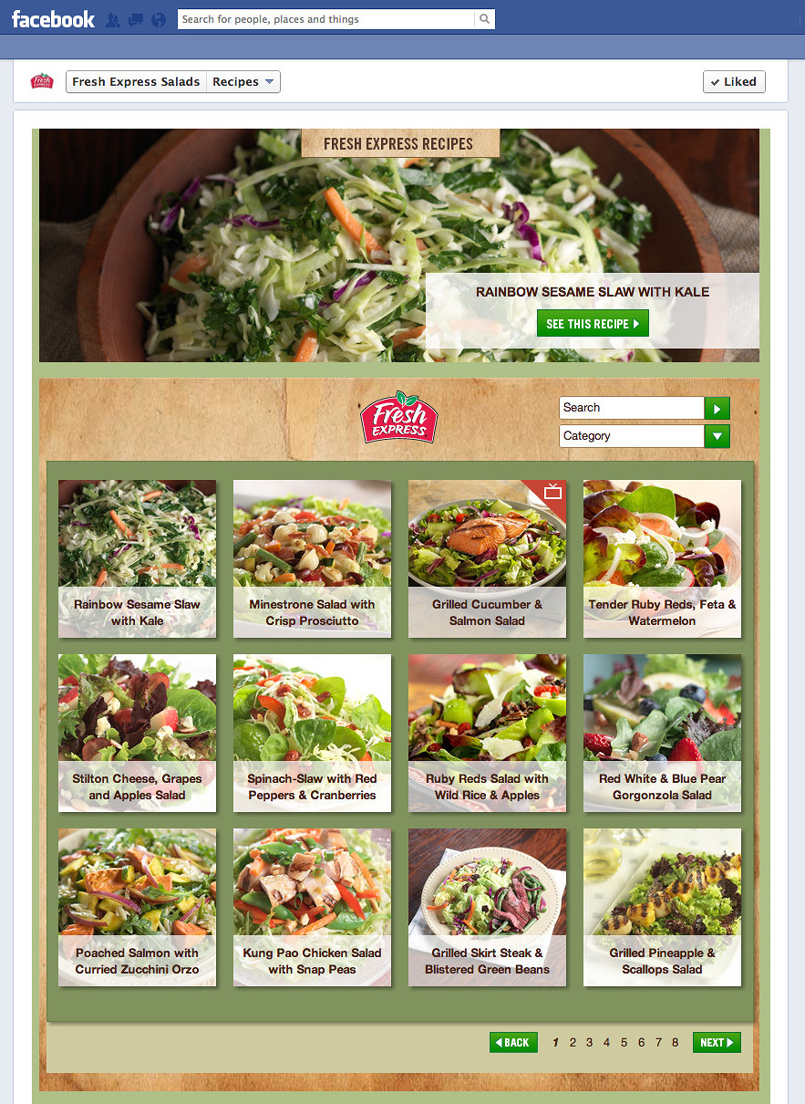 FreshExpressRecipes.com / Facebook tab