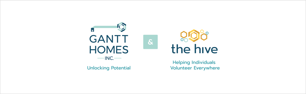Gantt Homes Inc. and The Hive (adult day service) Logos