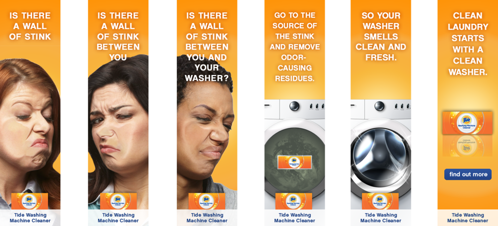 Tide Washing Machine Cleaner | Banner Campaign