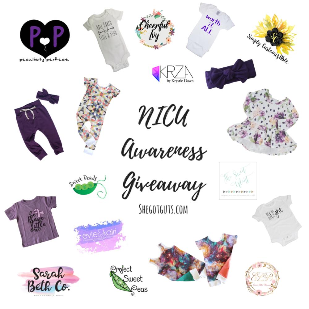 NICU Awareness Giveaway - shegotguts.com
