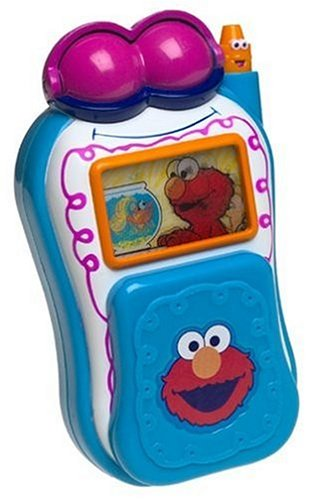 Elmo's world talking cell phone - We had to buy this phone used and it is an old school flip cell phone but it does not matter, this toy is a winner!  Addie has loved this toy for over a year.  It's quite simple. you flip open the phone and Elmo's Eyes open, he identifies numbers you press, names popular Sesame characters, and makes silly sounds, and when you close the cell it says goodbye.  There was a low volume issue but we read the reviews and we figured out how to fix it.  This toy is good for 9 to 36 months.