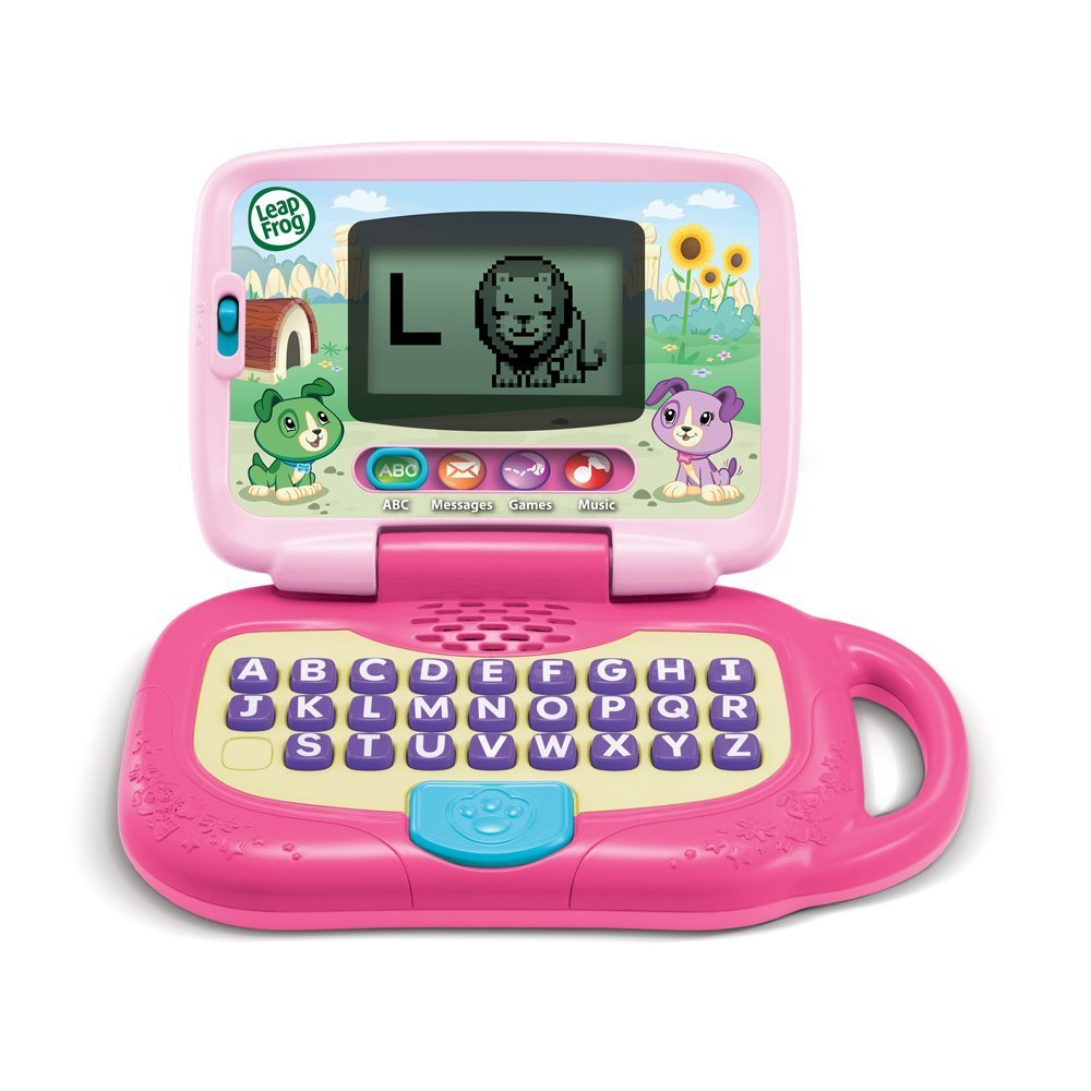 leapfrog my own leaptop - Santa is bringing this for Adleine this year on this computer built for kids. Send and receive pretend emails, learn letters and animal names, and sing along with 16 songs and melodies. Pretend to be like Mom and Dad with fun computer role-play, such as emailing with Scout. Customize My Own Leaptop to help your child spell his or her name.  This is intended for kids age 2+.