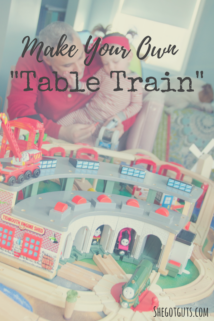 make your own table train - shegotguts.com